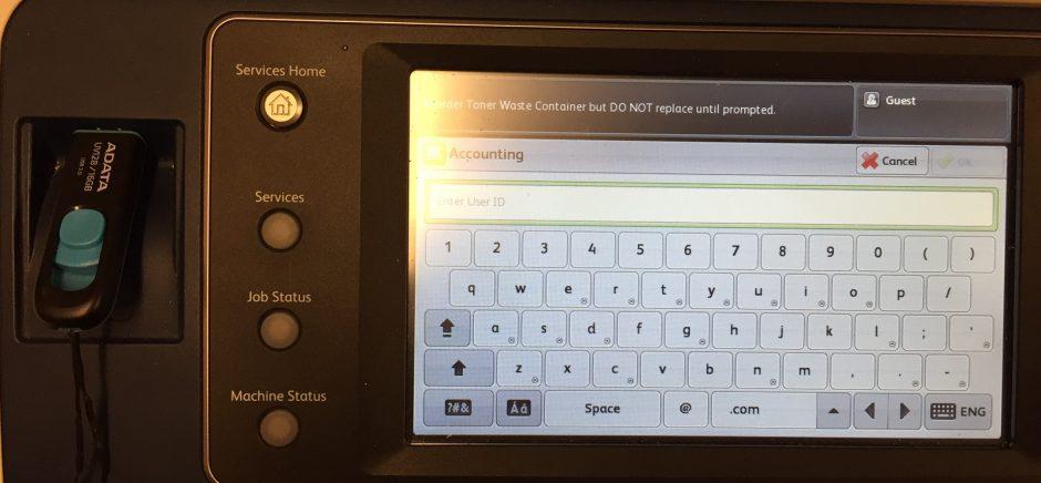 Xerox enter code