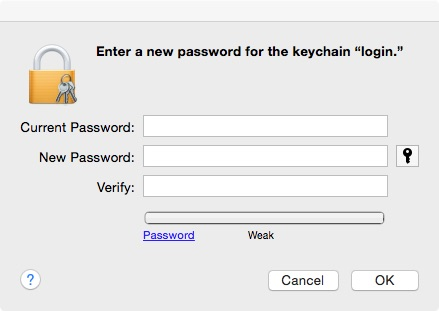Change Keychain password