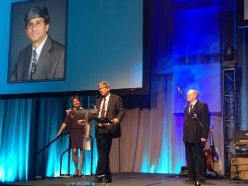 Yatham Receiving award