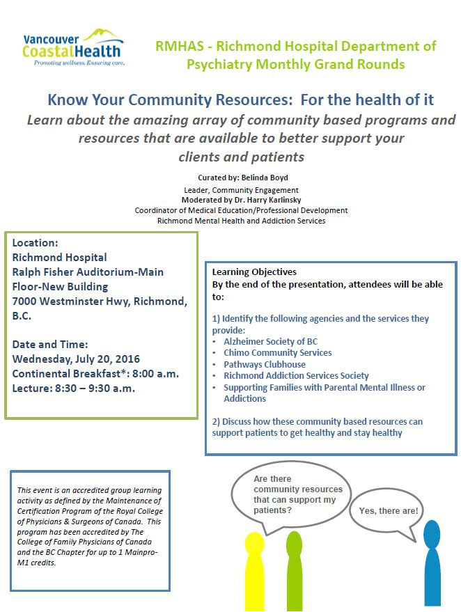 Richmond hospital psychiatry know your community for Interior health employee website