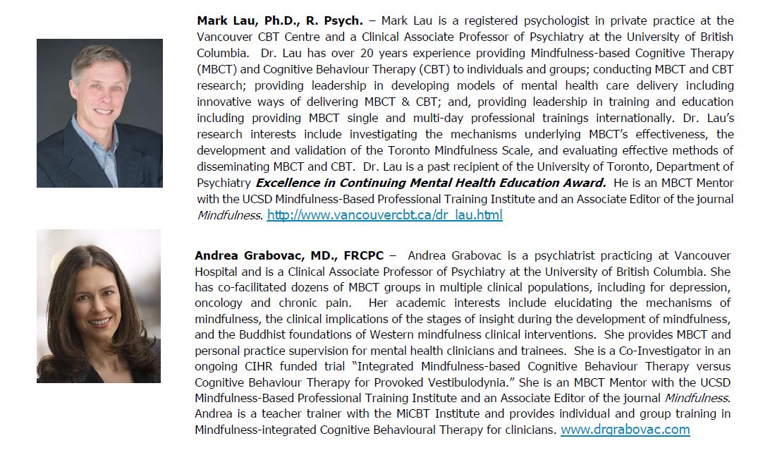 Mbct Mindfulness Based Cognitive Therapy Longitudinal
